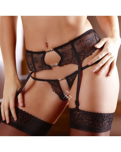 Cottelli Collection Lace Suspender Set