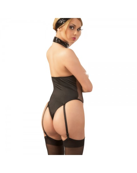 Bondage Boobless Body With PVC Straps