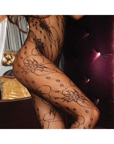 Corsetti Chrysanthe Bodystocking Black UK Size 8 to 12