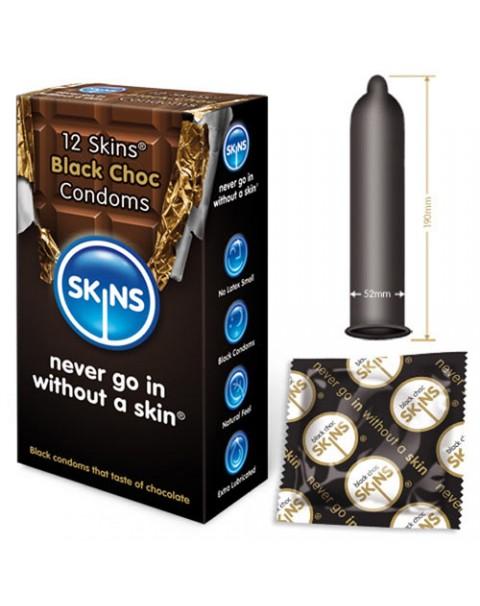 Skins Condoms Black Choc 12 Pack