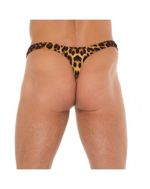 Man Leopardtryck stringtrosa