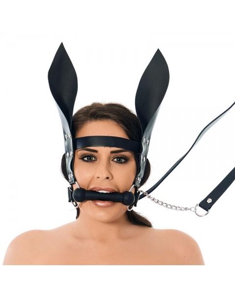 Horsebit Mouth Gag med tenn och öron